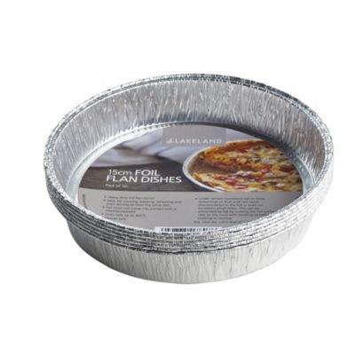 Lakeland Flan Platos de Papel de Aluminio, 15 cm, 10 Unidades, Reutilizables y