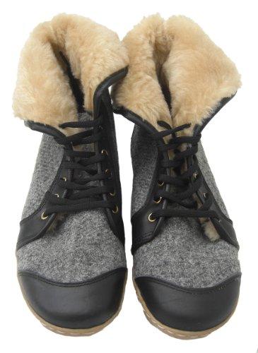 mujer de lana para Botas gris gris Chantam nfq17ZxB7