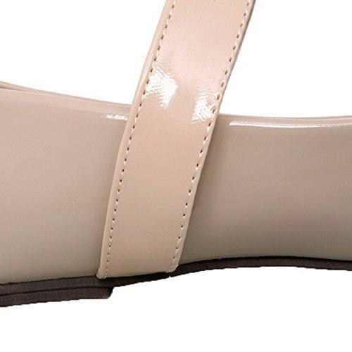 Velcro Di Maiale Pelle Basso Donna Albicocca Ballet Tonda flats Agoolar Puro Tacco Punta 5IqEUxxtw