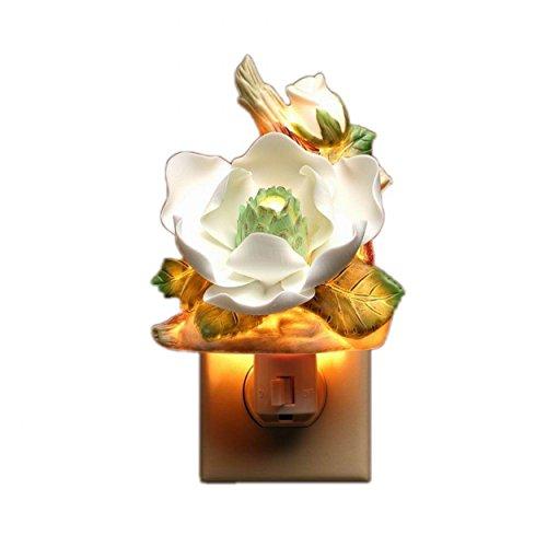 celain Lighted Magnolia Night Light, 3-1/8-Inch ()
