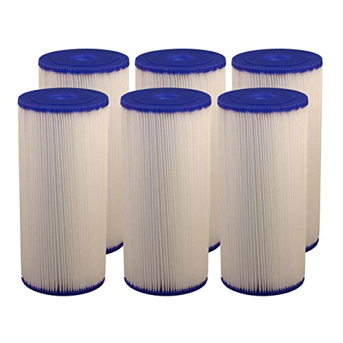 Tier1 SPC-45-1020 20 Micron 10 x 4.5 Hydronix Comparable Whole House Pleated Sediment Replacement Water Filter 6 (10 Pleated Water Filters)
