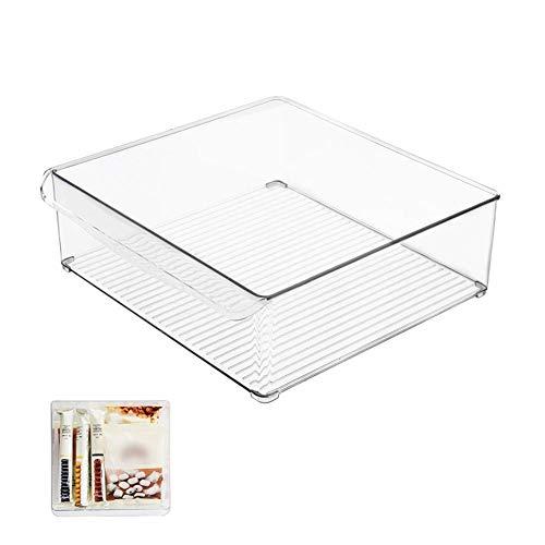 Wintesty Storage Box, Refrigerator Storage Box Cans Home Food Storage ContainerPlastic Box Rectangular Transparent Kitchen Refrigerated Beverage Storage Box