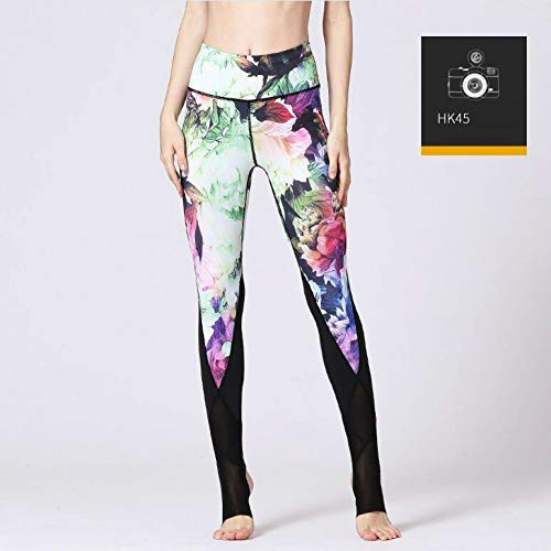 Flower Slim Gsyjk Fitness Trousers Women Sportswear Workout Leggings Waist Pant Running Hk45 Printed Sport Sports High Yoga Pants Rw1qtx14p
