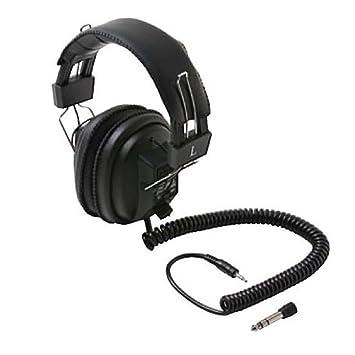 Electrodynamic Stereo Headphone 6' FT Coiled Cord 3 5mm Plug Uni