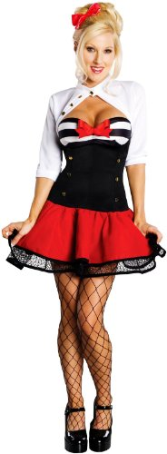 Retro Navy Sailor Adult Mens Costumes (Naval Pinup Adult Xsmall)