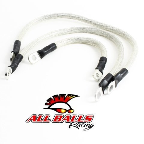 All Balls Battery Cable Kit Clear for Harley FLST FXST 84-88