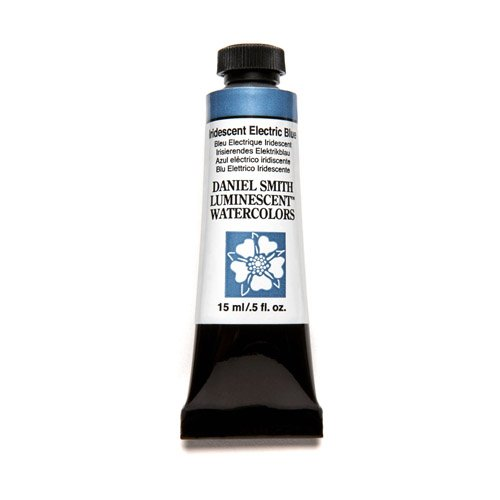 DANIEL SMITH Extra Fine Watercolor 15ml Paint Tube, Iridescent, Electric Blue