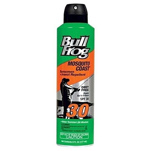 Bull Frog Mosquito Coast Spray Sunscreen with Insect Repellent, 6