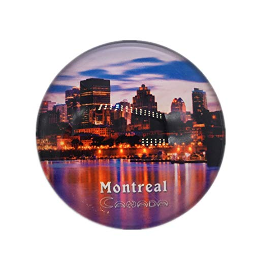 Montreal, Canada Refrigerator Fridge Magnet City World Crystal Glass Handmade Tourist Travel Souvenir Collection Strong Word Letter Sticker Kids -