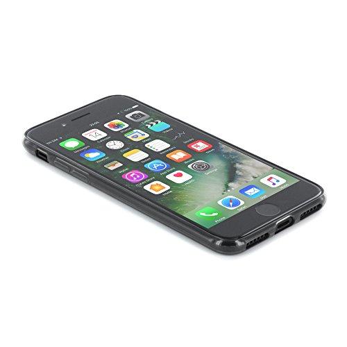 Proporta Ultra fin en silicone Jelly Coque arrière avec protection d'écran pour Apple iPhone 7–Charbon de bois
