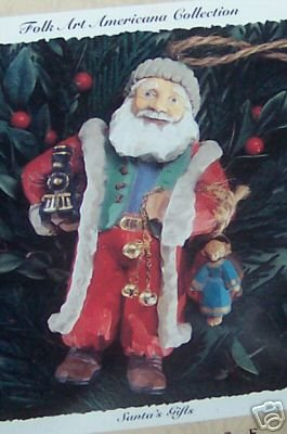 Hallmark Folk Art Santa's Gifts - Rare Ornament - dated 1996 ()