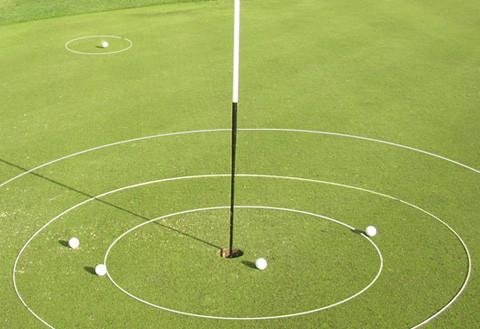 (Golf Training Aid eGolfRing - Individual White Golf Targets - Short Game Improvement - Chipping Trainer, Putting Trainer - 6 Feet)