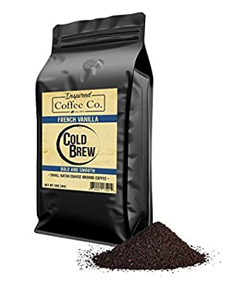 French Vanilla - Flavored Cold Brew Coffee - Inspired Coffee Co. - Coarse Ground Coffee - 12 oz. Resealable Bag by Inspired Coffee Co.