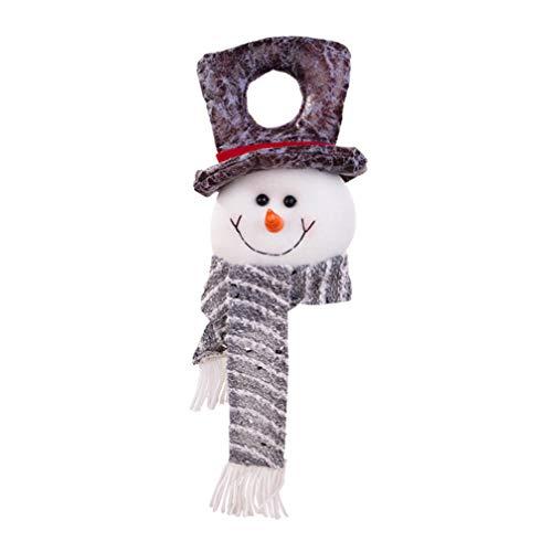 Amosfun Christmas Door Hanger Snowman Door Knob Ornament Christmas Hanging Doll for Home Dorm Office Hotel Door Decoration