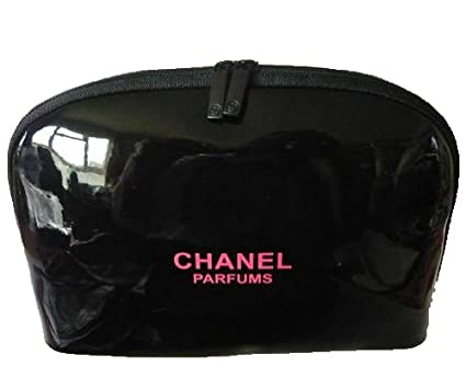 6caac8a165b3 Chanel Makeup Bag Women Clutch Cosmetic Bag Small Pink Print Black Handbag:  Amazon.co.uk: Clothing