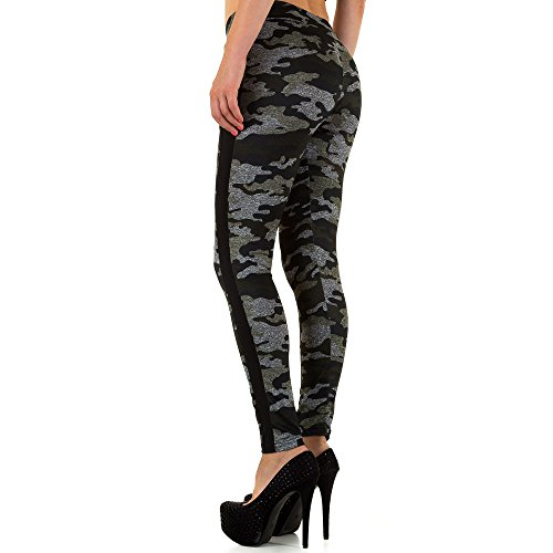 Gemusterte Camouflage Leggings Für Damen , Khaki In Gr. S/M bei Ital-Design