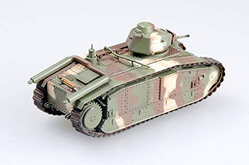 Easy Model Suviving WWII Char B1 Tank France Saumur Museum 2002 1:72 Non diecast