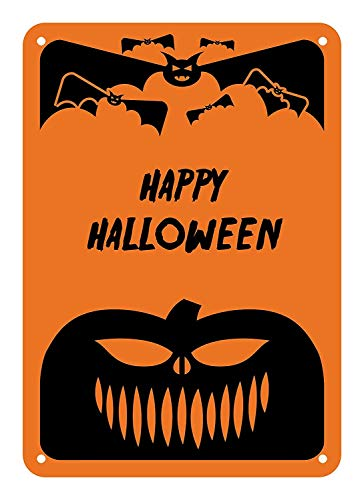 Kevin Porter Tin Sign New Metal Sign Funny Happy Halloween Warning Sign 11.8