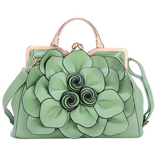 - DZTZ Women's Fashion Shoulder Bag Rose Lady Handbag Cosmetic Bag (Mint Green)