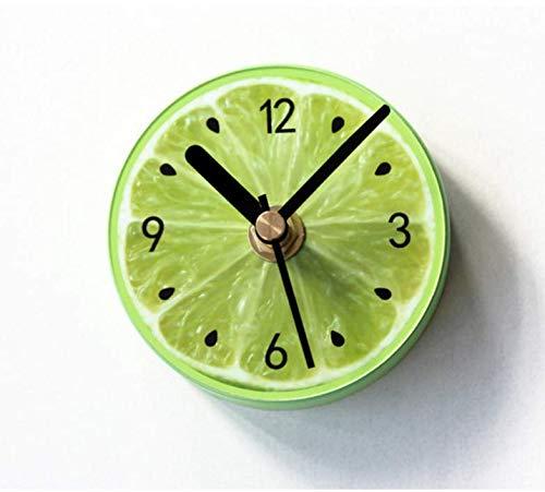 AG Goodies Magnetic Home Kitchen Office Wall Clock, Fruit Lemon Clock, Wall Refrigerator Clock, Magnet Message Stickers(Green) (Clock Magnetic Wall)