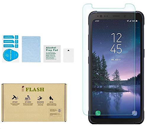 Galaxy S8 Active Screen Protector, iFlash Crystal Clear Tempered Glass Screen Protector for Samsung Galaxy S8 Active (NOT S8 Model) - 2.5D Rounded Edges / 9H Hardness/Scratch Proof/Bubble Free
