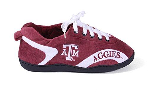 Vrolijke Voeten Heren En Dames Ncaa College Rondom Pantoffels Texas A & M Aggies
