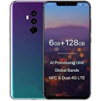 NewTech Galaxy S Plus 10.8: 4G Smart Phone| 6.2 inch Android 8.1 | 6GB RAM 128GB ROM | 16.0MP + 8.0MP dual back cameras and 16.0 + 8.0MP dual front cameras| With One Year Replacement Warranty (No Question Asked Policy)