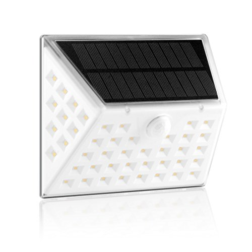 TUTU TECH Solar Lights Outdoor with 53 LEDs, Wireless Waterproof Wall Lights with Wide Lighting Area, Security Lights with Motion Sensor for Patio, Back Yard, Garden, Porch, Garage, Step Stair and Fen Functional Three Light