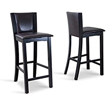 Amazon Com Baxton Studio Rinko Bar Stool Set Of 2