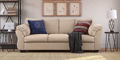 Beige Microfiber Sofa - Truly Home UPH10131B Gaines Sofa, Beige