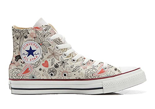 Converse All Star Hi chaussures coutume mixte adulte (produit artisanal) Delicate