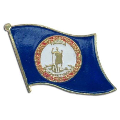 Virginia Flag Lapel Pin - US Flag Store Lapel Pin Virginia Flag