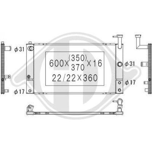 Diederichs DCM3322 Radiator, radiator: