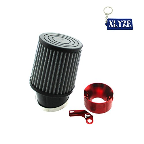XLYZE Air Filter & Adapter Kit For Predator 301cc 420cc GX340 GX390 Golf Cart Mud Boats Racing Lawnmower Minibike (Red)