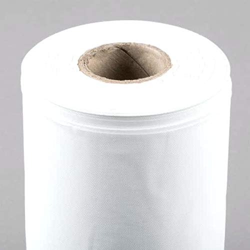 QUALITY SUPPLIES DIRECT Plastic Tablecover Roll, White - Covers 300 Tables 108'' Length
