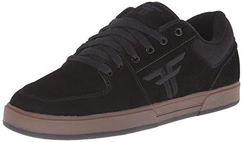 Der Patriot-Skateboard-Schuh der gefallenen Männer Schwarz / Gum