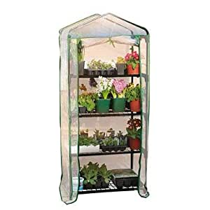 "Gardman R687 4-Tier Mini Greenhouse, 27"" Long x 18"" Wide x 63"" High"