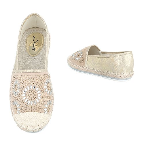 Ital-Design - Tobillo bajo Mujer Beige Gold