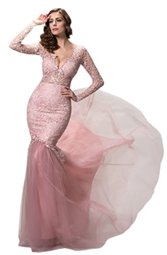 Ikerenwedding - Vestido - para mujer Rosa