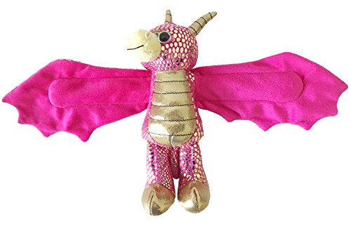 Wild Republic Huggers, Golden Dragon Plush Toy, Slap Bracelet, Stuffed Animal, Kids Toys, 8 inches