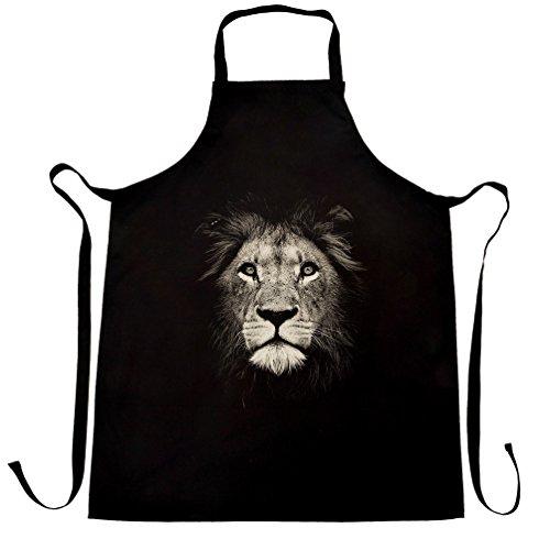 lion-face-photograph-majestic-mane-big-cat-fur-apron