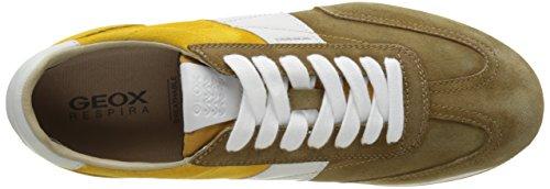 Geox U Vinto a, Zapatillas para Hombre Marrón (Desert/Yellowc5L2V)