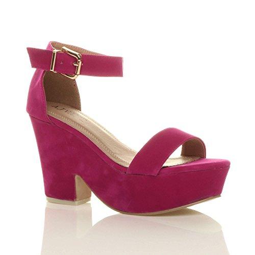 Bout Talons Ouvert Sandales Chaussures Hauts Compens Femmes qt8Exw7dRq