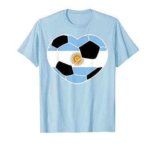 Argentina Soccer Ball Heart Jersey Shirt Argentina Football