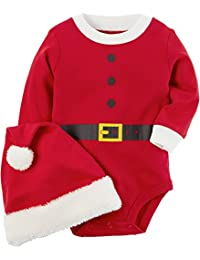 Baby 2-Piece Santa Bodysuit and Hat Set
