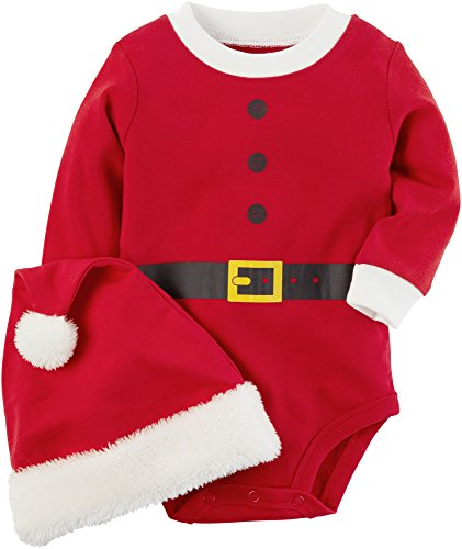 Carter's Baby 2-Piece Santa Bodysuit And Hat Set 3 Months (Hat Baby Santa)