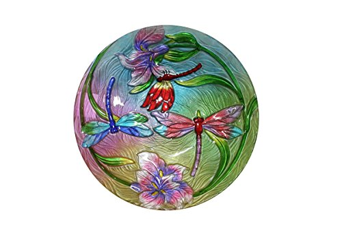 Alpine Corporation KPP128T-18 18'' Flower Dragonflies Birdbath by Alpine Corporation