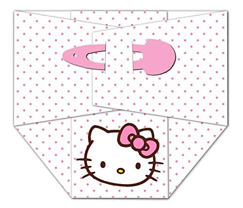 Baby Shower Pink Girl Hello Kitty Diaper Edible Cake Topper Image ABPID07144 - 1/2 sheet]()