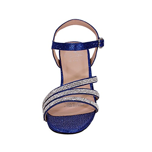 Donne Di Jenna Floreale Ampia Larghezza Scintillante Strass Tacchi Alti Sandali Con Tacco Partito (taglia / Misura) Blu