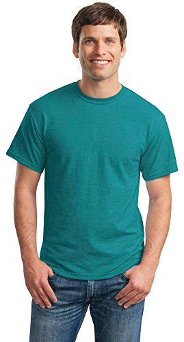 Gildan Mens DryBlend 50 Cotton/50 Poly T-Shirt, XL, Jade Dome